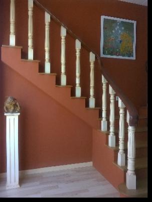 Barandas de escaleras en madera ortiz sevilla - Pasamanos de madera modernos ...